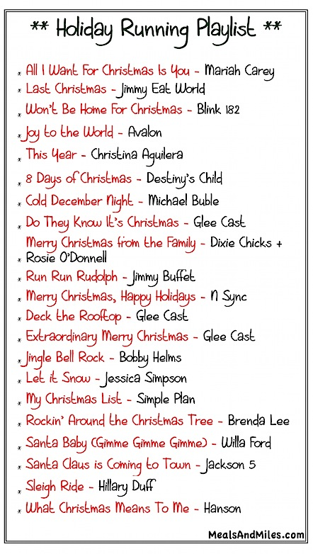 Holiday-Running-Playlist