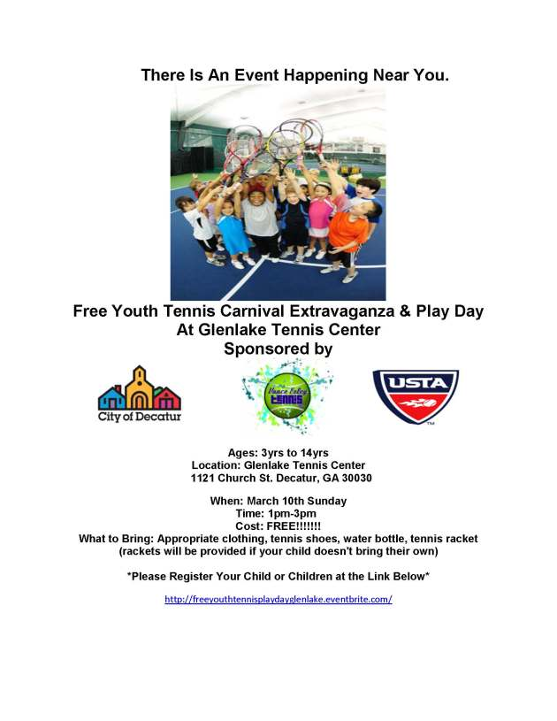 Glenlake Youth Tennis Carnival Extravaganza and Play Day