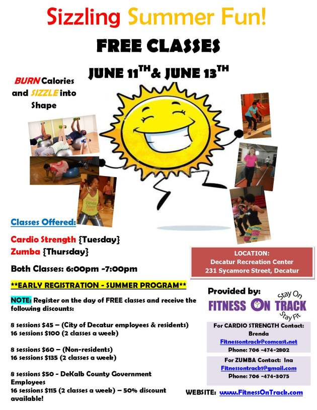 Fitness On Track Summer Promo  Early Registration Flyer