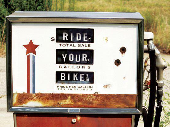 ride your bike gas tank