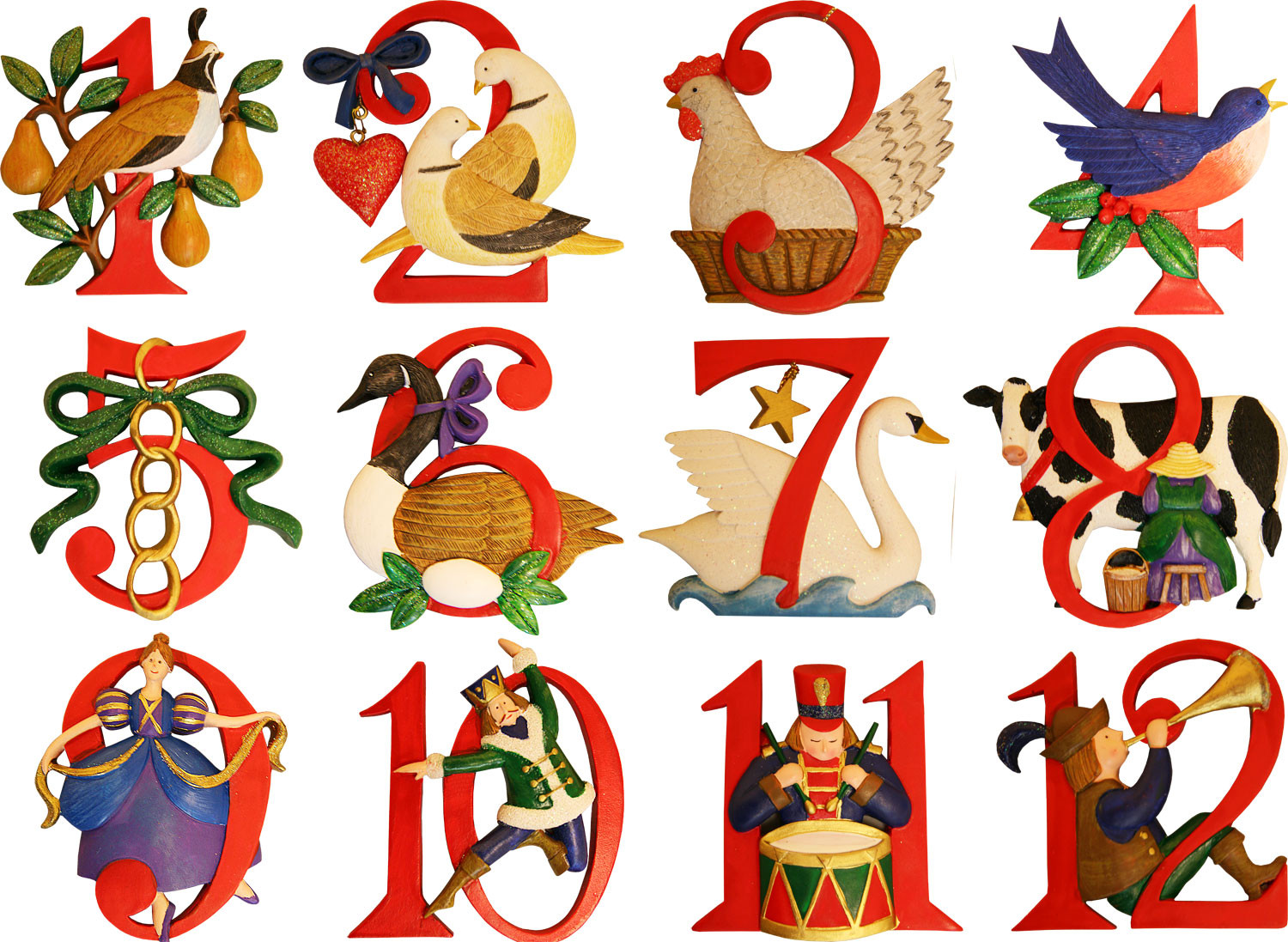 Different look at the 12 days of christmas