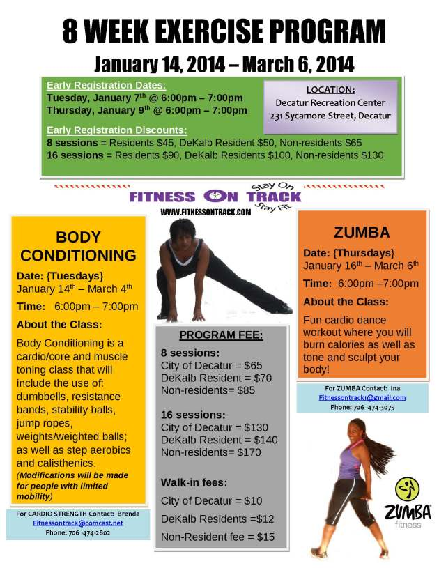 Winter 8 Week Program Flyer