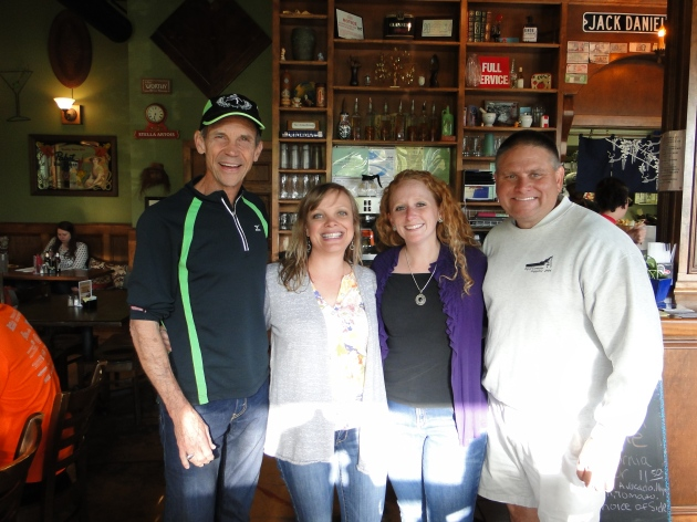 Olympian Jeff Galloway with Stephanie Batson, Mary Olsen and Shane Newton