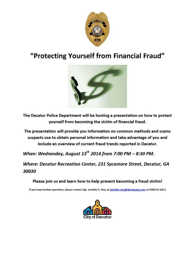 Protecting Yourself from Financial Fraud Flyer