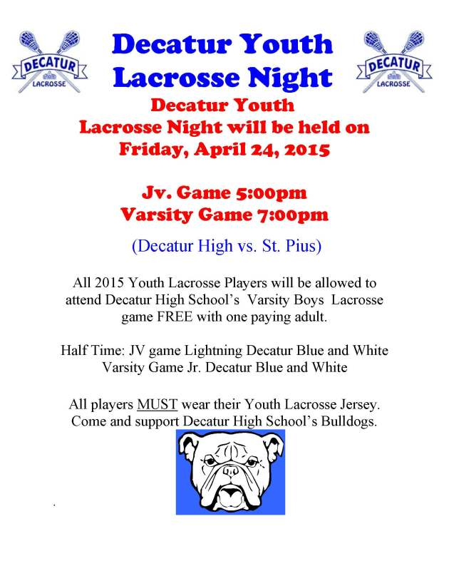 Decatur Youth Lacrosse Night(girls)