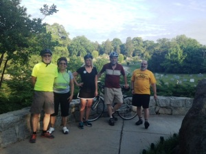 Third Friday Bike Riders at the Cemetery