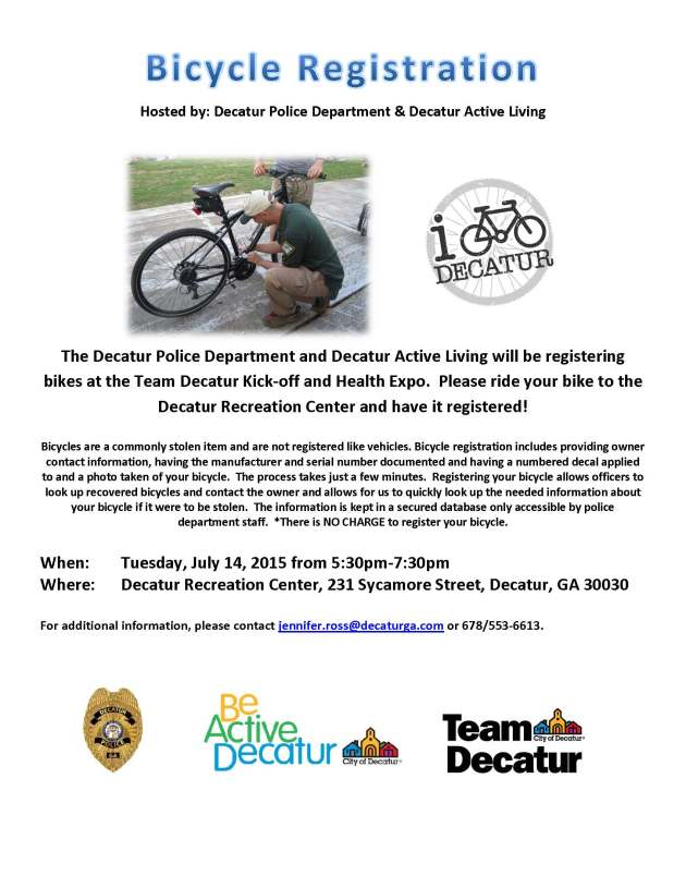 Team Decatur Kickoff Bike Registration