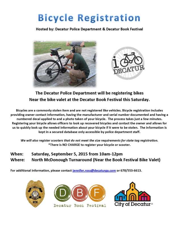 Book Festival Bike Registration 090515