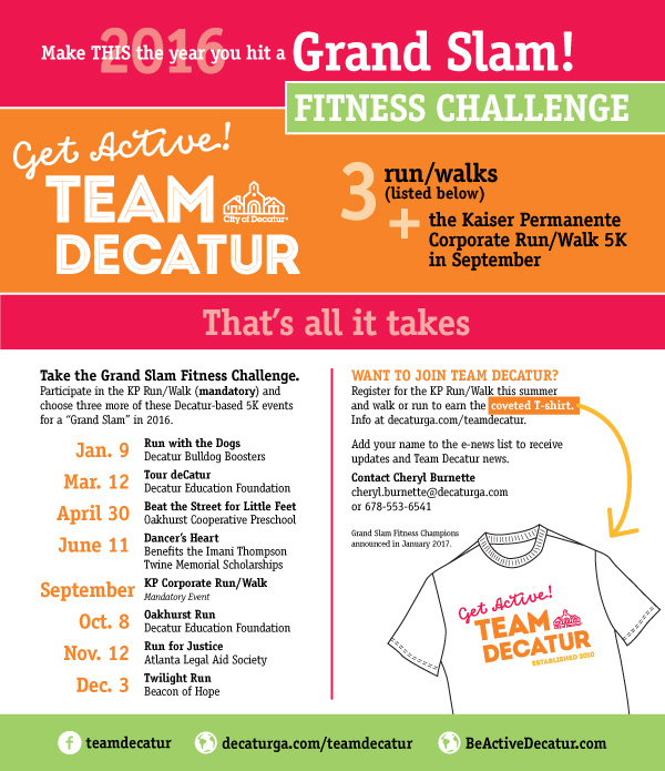 Team Decatur Grand Slam Fitness Challenge | Be Active Decatur