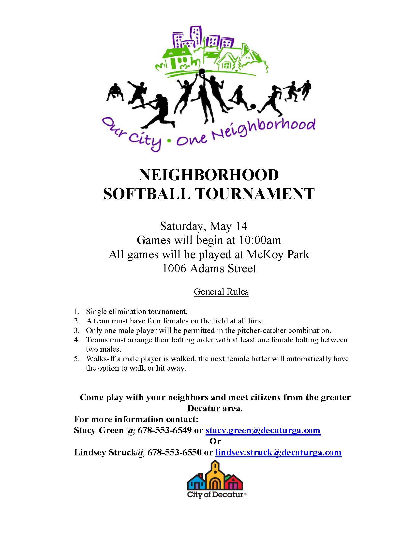 2016 DECATUR NEIGHBORHOOD TOURNAMENT