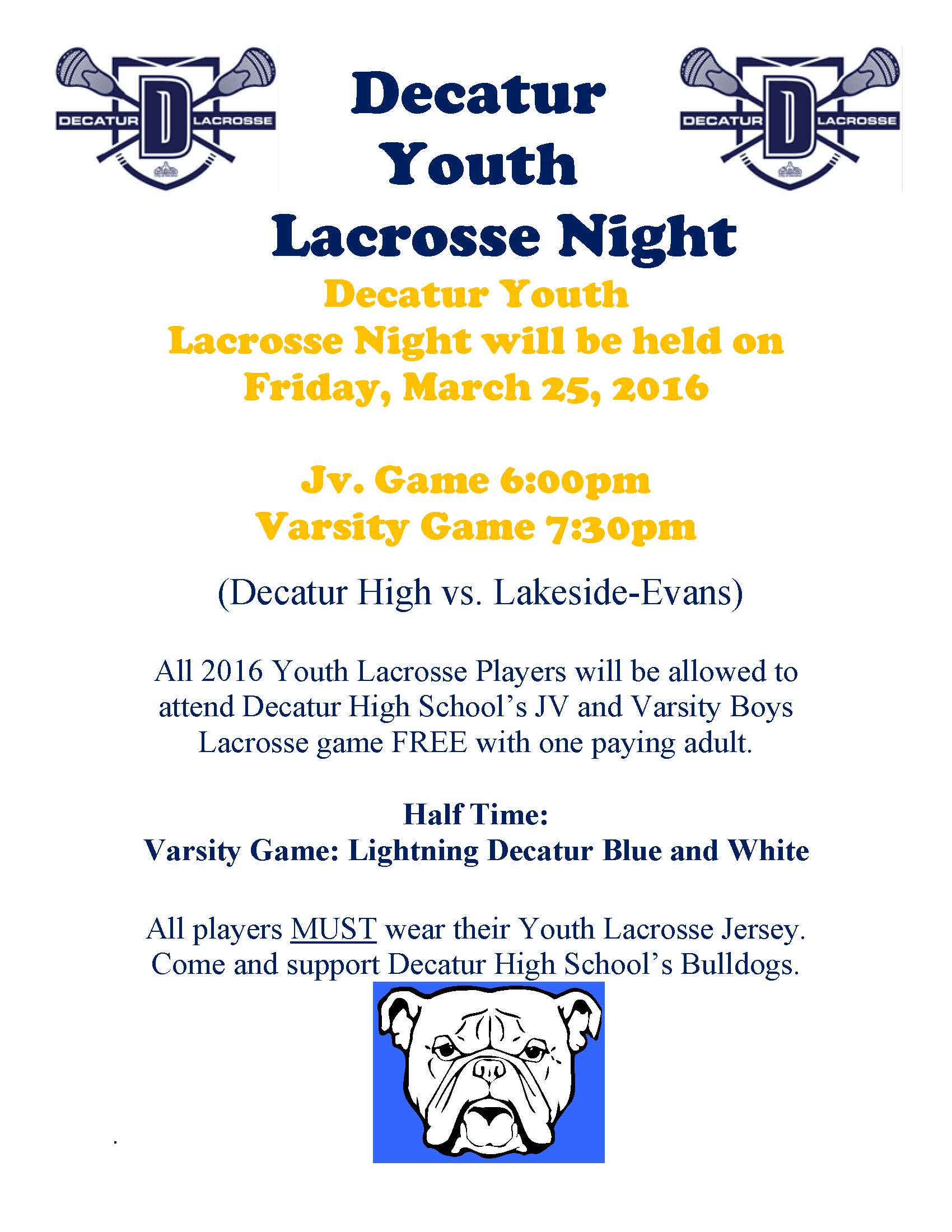 Decatur Youth Lacrosse Night (boys)