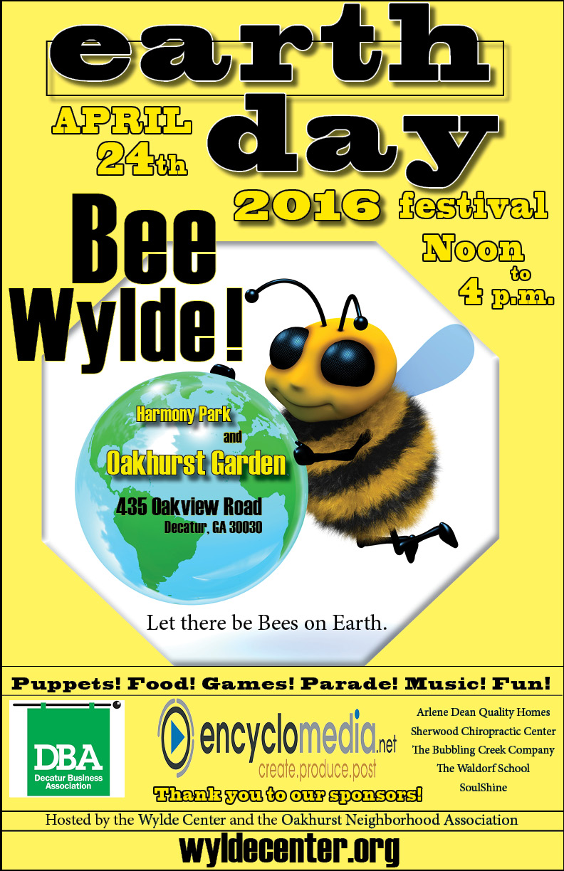 EARTH DAY POSTER BEE WYLDE (1)