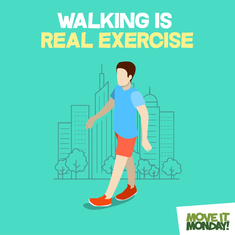 walking is real exercise