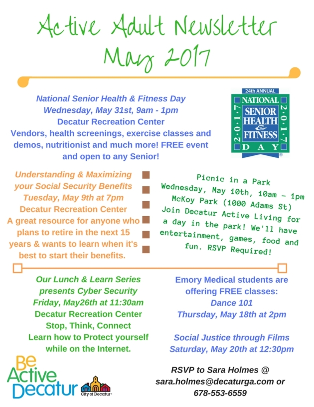Active Adult NewsletterMay 2017