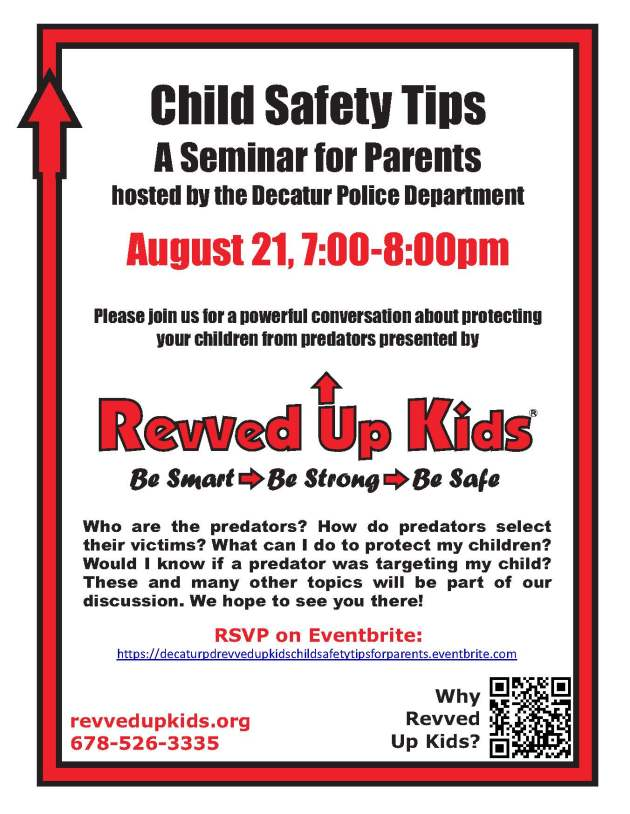 Child Safety Tips Seminar For Parents