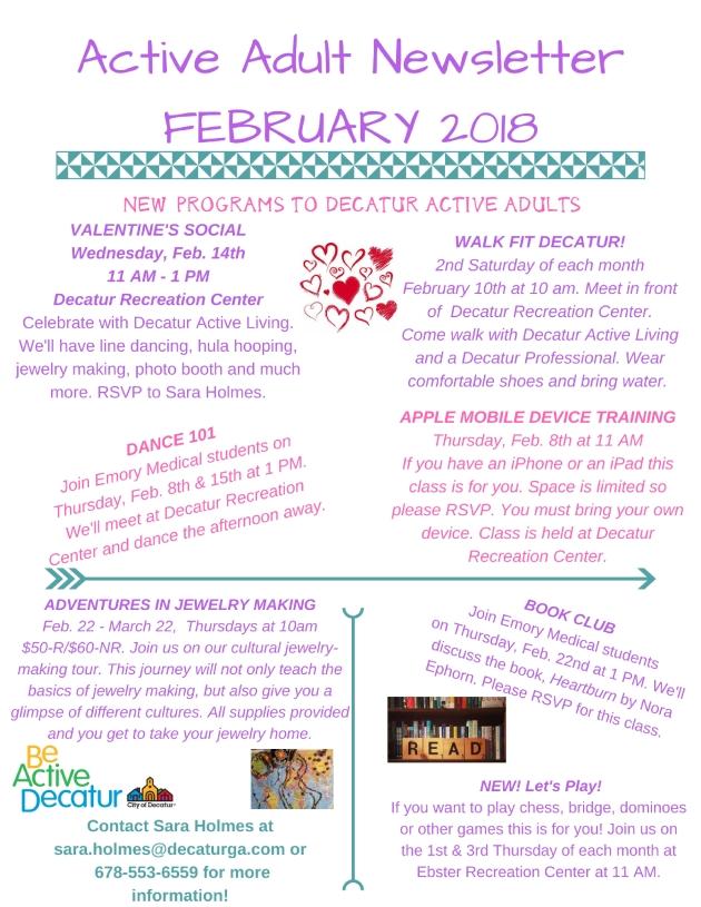 February 2018 newletter