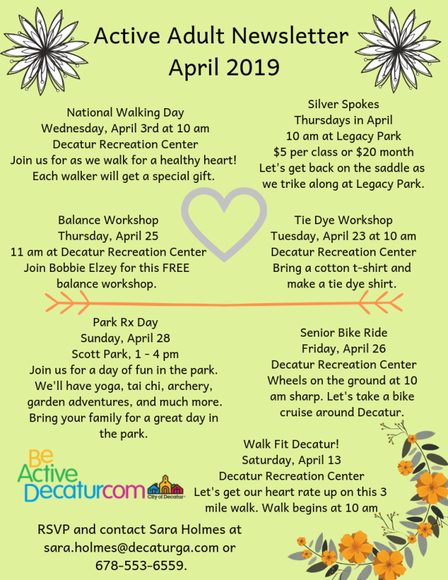 Active Adult Newsletter April 2019