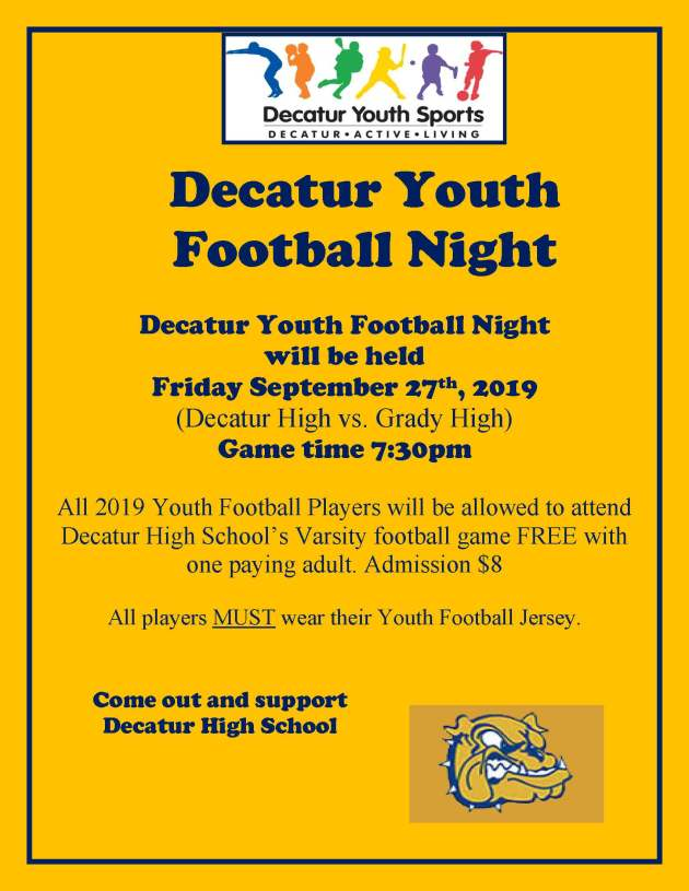 Decatur Youth Football Night