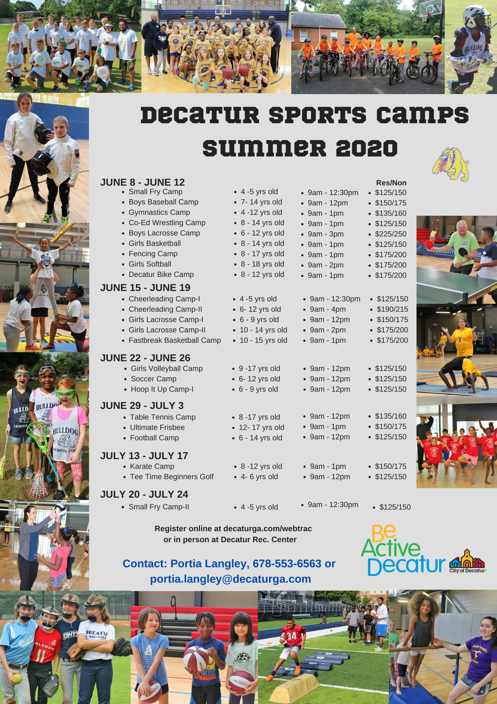 Decatur Sports Camps 2020