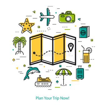 plan-your-trip-now-round-line-concept-vector-summer-vacation-planning-map-place-pointer-route-beach-icons-palm-90021785